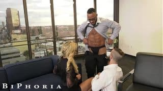 BiPhoria – Big Dick Boss Knows How to Get The Best Out Of His Associates